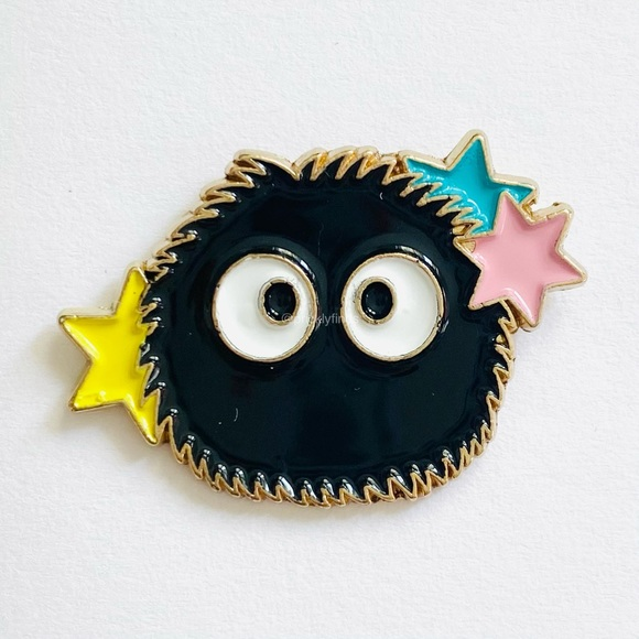 4/$20 Spirited Away Soot Sprites Stars Enamel Pin